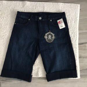 KUT dark blue denim long shorts